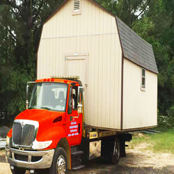 TOWING A SHED